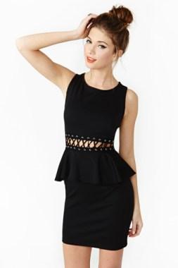 Laced Peplum Dress, Nasty Gal, $39.00