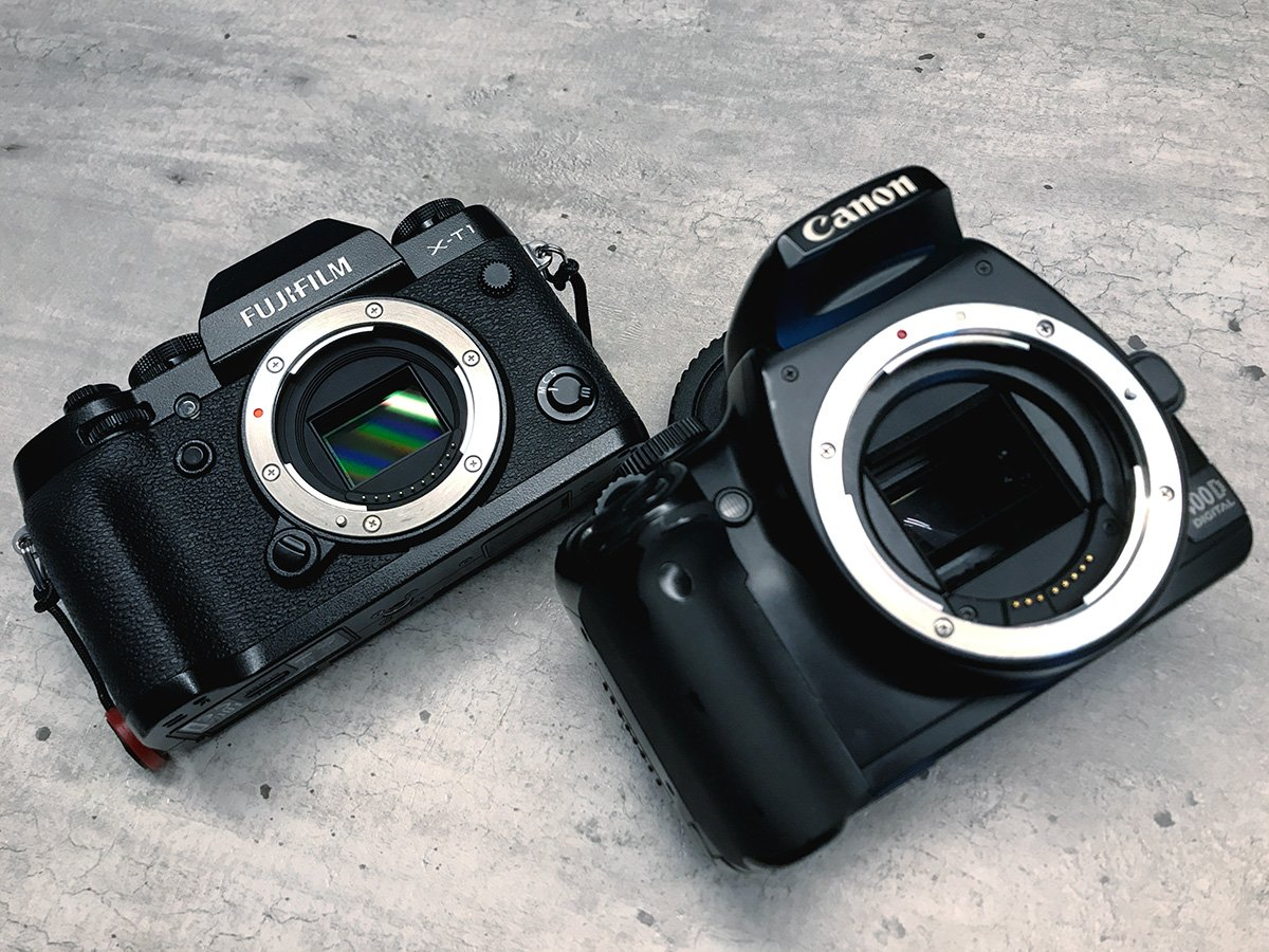 fuji xt1 canon 400d comparison dslr vs mirrorless