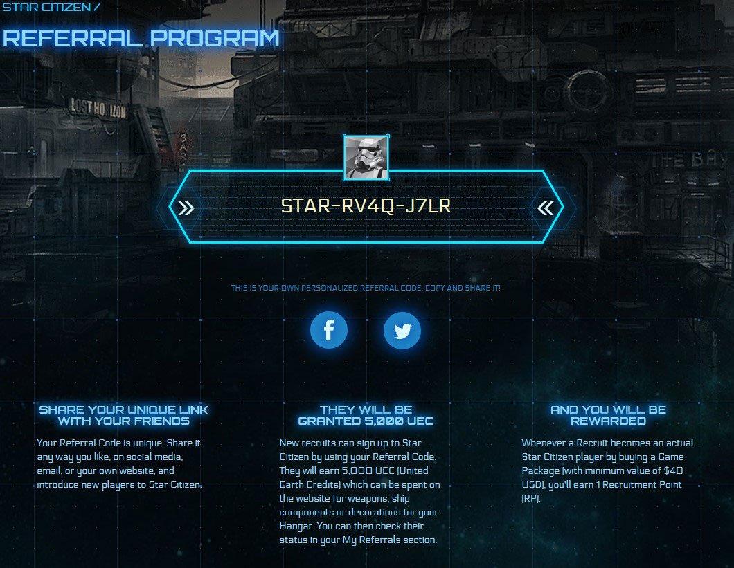 star citizen referral code rsi