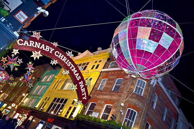 London Christmas Carnaby Street Lights