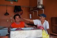 "Mexico Bacalar Yucatan ""Quintana Roo"" market stalls"