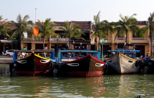 Traditional boats in Hoi An Old Town