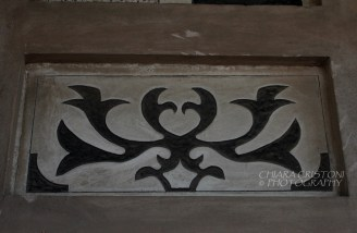 Charcoal wall decoration