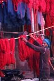 Morocco Marrakech Teinturiers dyers souk wool