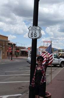 Me and the Route 66 sign, a touching moment!