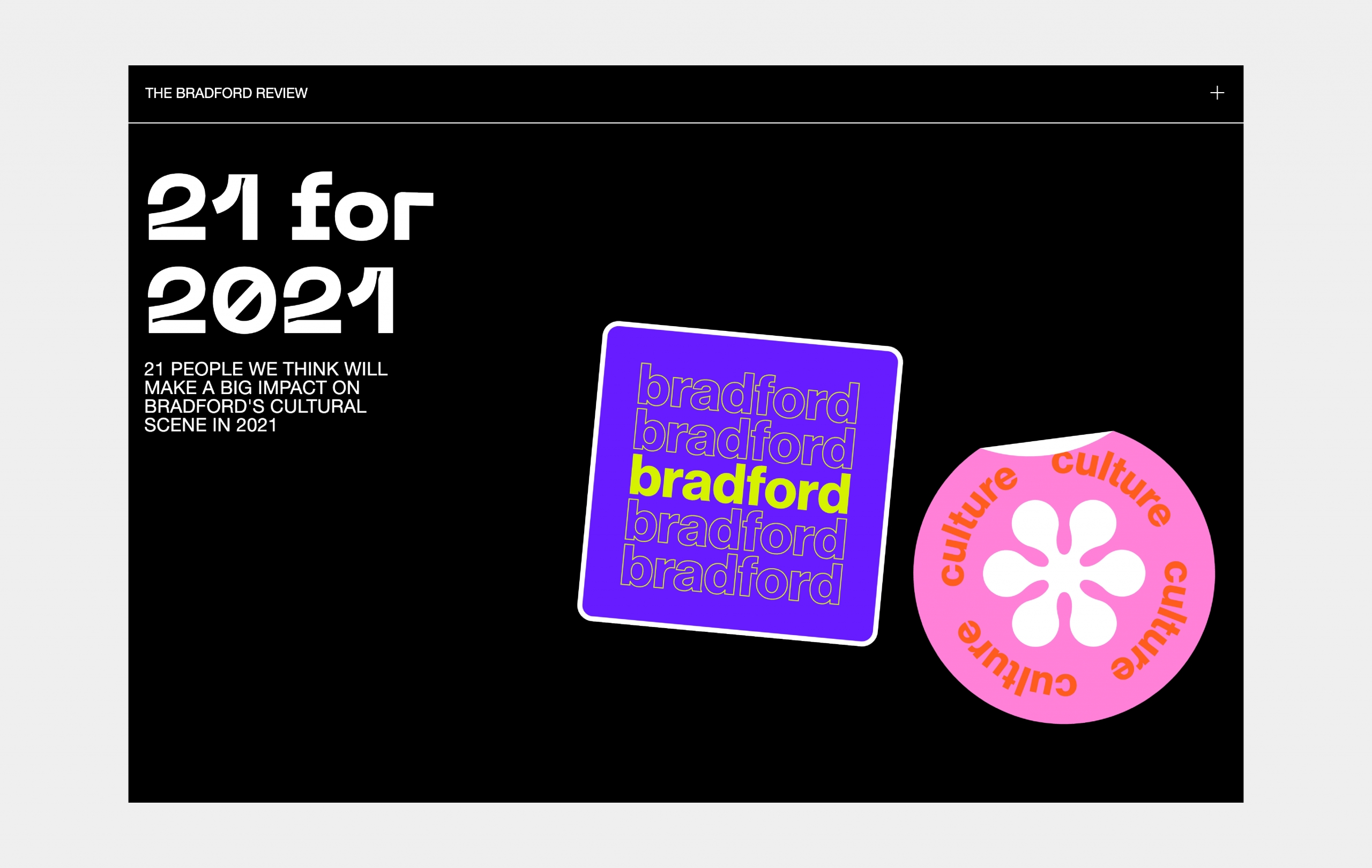 Bradford 21 for 2021 Web Design