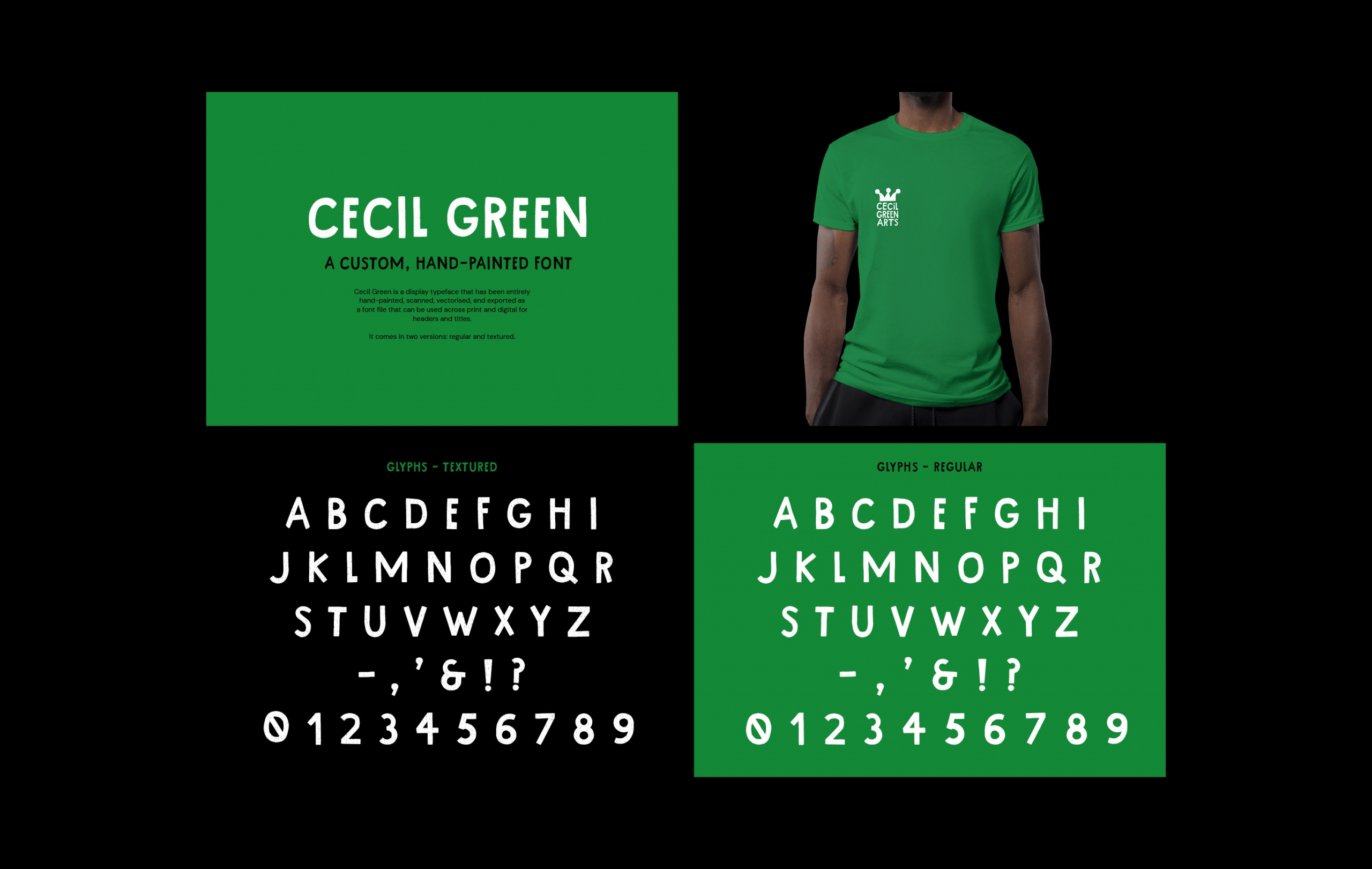Cecil Green Arts Bespoke Typeface Design