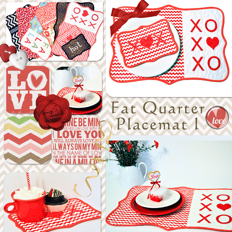 Fat Quarter Placemat from Out of the Blue by Sondra Davison