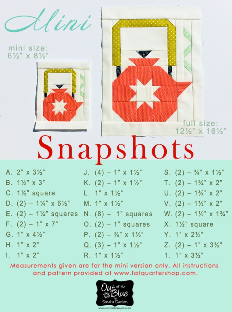 Snapshots Quilt-Along Mini Quilt Block 3 │Out of the Blue Quilts