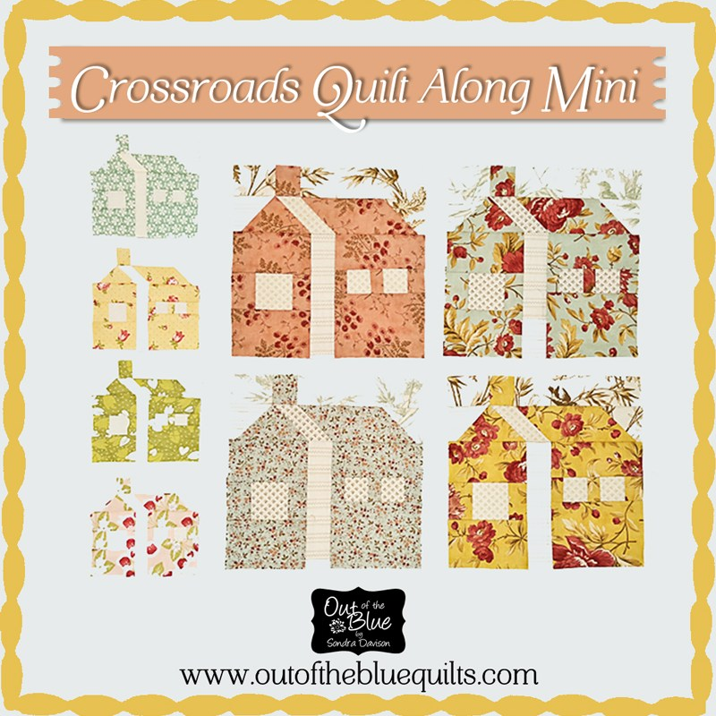 Crossroads Quilt Along Mini House Block 1