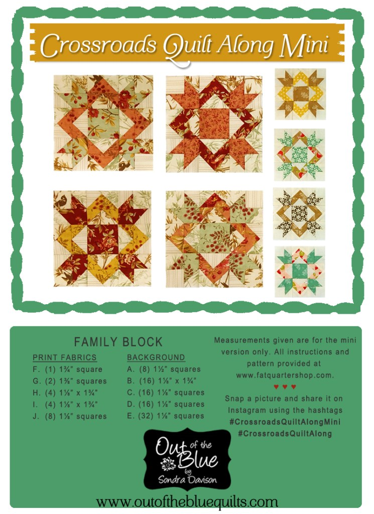Crossroads Quilt Along Family Block │ Out of the Blue Quilts by Sondra Davison