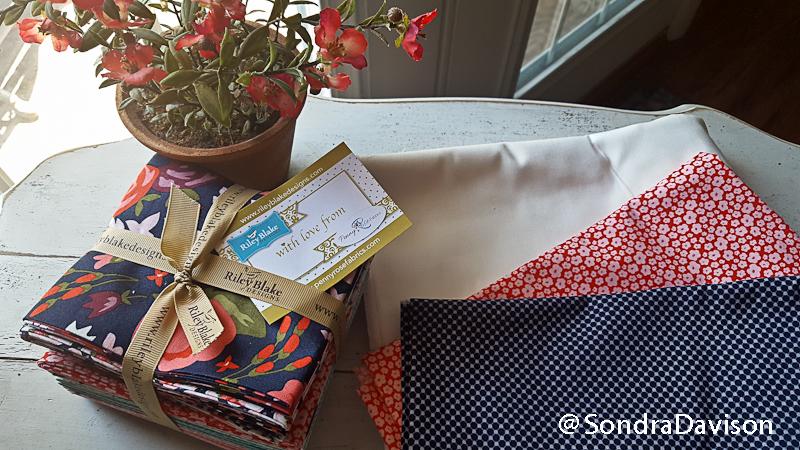 Posy Garden Blog Hop Tour │ Out of the Blue Quilts by Sondra Davison