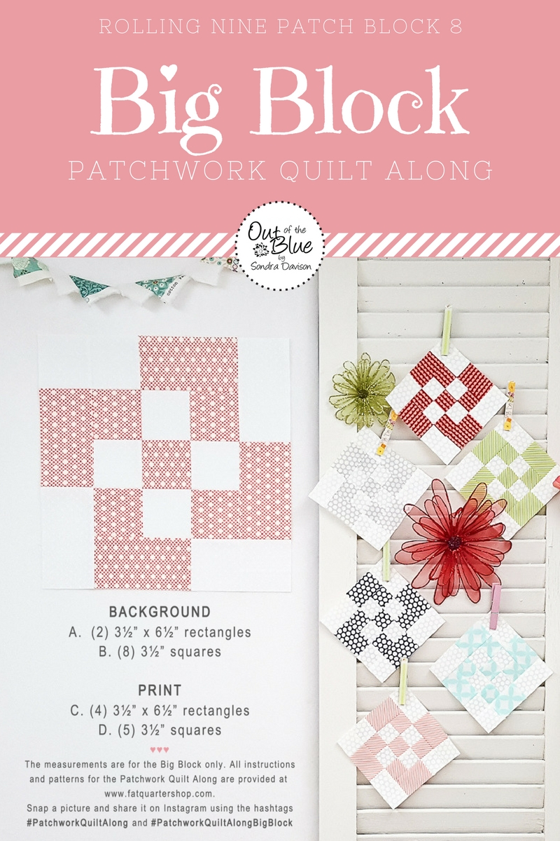 PWQAL Big Block 8 │ Out of the Blue Quilts by Sondra Davison