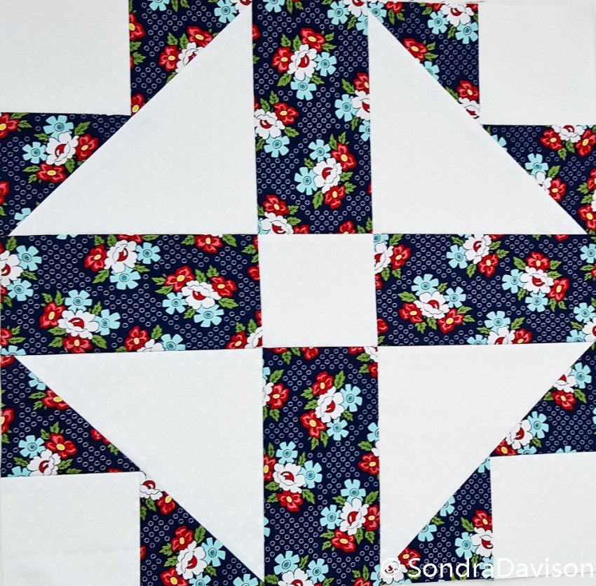 PWQAL Big and Small Block 9 │ Out of the Blue Quilts by Sondra Davison