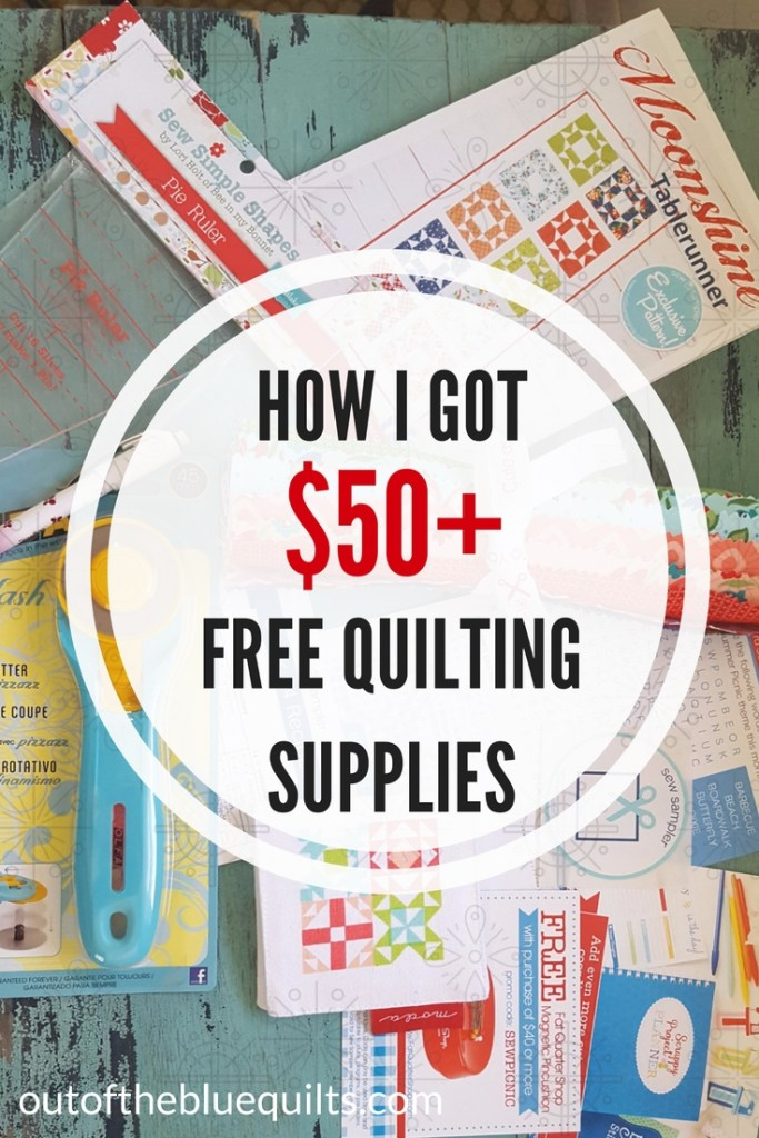 Choosing alternative resources results in free quilting supplies | Out of the Blue Quilts