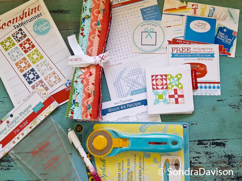 FQS Sew Sampler Box could be your free quilting supplies
