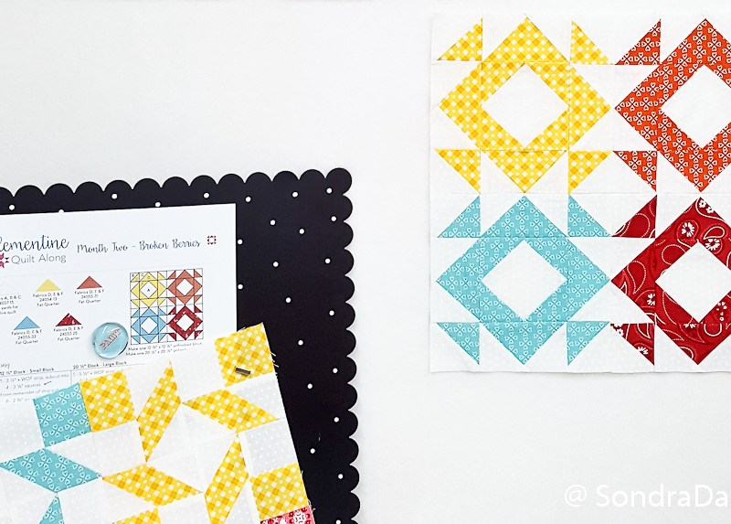 2018 Clementine QAL Block 2 │ Out of the Blue Quilts