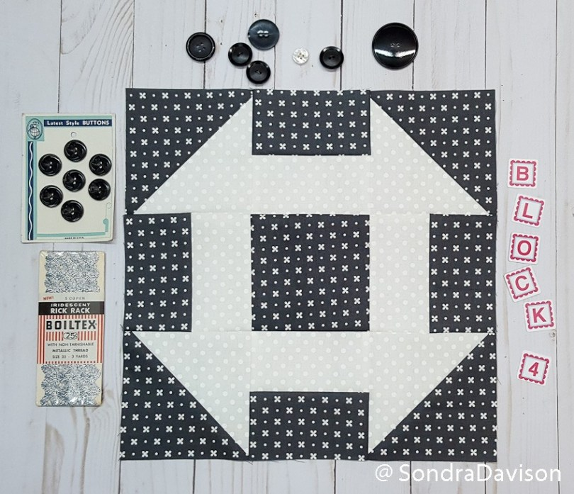 Threadology Block 4 │ Out of the Blue Quilts