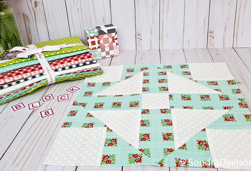 Block 8 Cross With a Cross │ Out of the Blue Quilts by Sondra Davison
