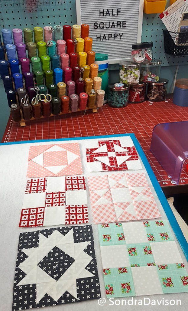 month nine assembling the Threadology Quilt of the FQS QAL