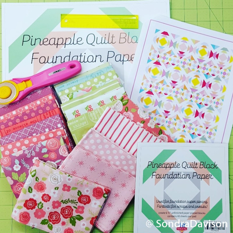 supplies for my pineapple day quilt