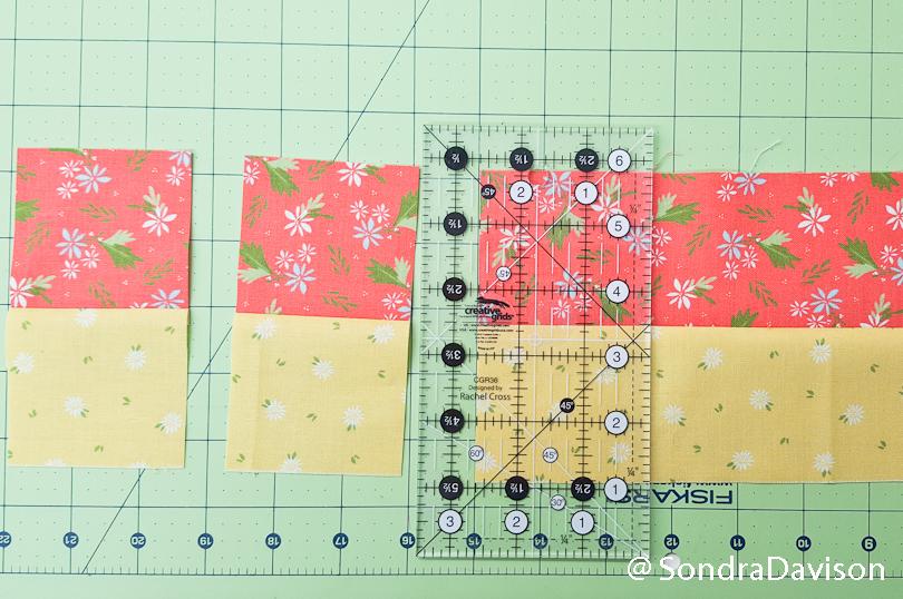 strip piecing technique for quilt blocks