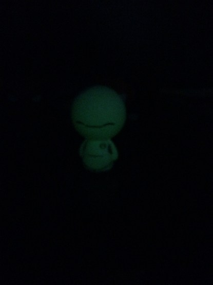 Here he is glowing in the dark!