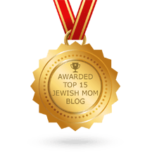 Medal for top 15 jewish mom blog