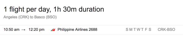 Flights from Clark to Basco Batanes