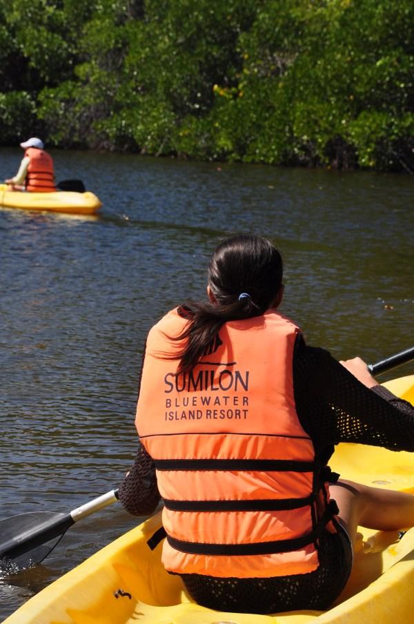 Kayaking in Sumilon Lagoon