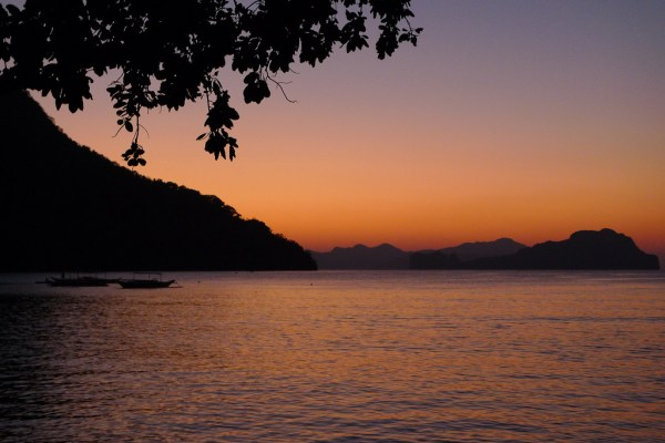 Sunset in Caalan Beach