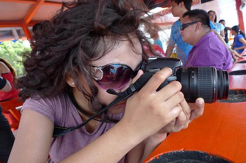 Ada taking photos