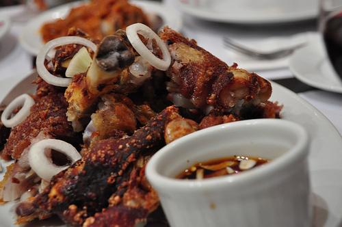 Crispy Pata @ Red Crab Restaurant