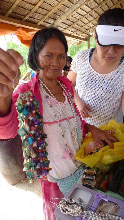 Pasalubong Vendor in Snake Island