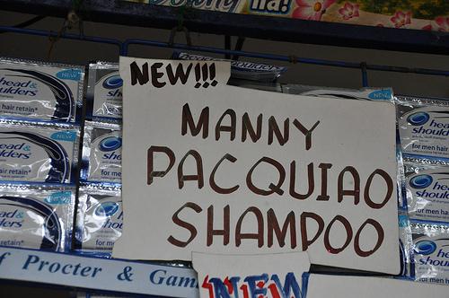 manny pacquiao shampoo