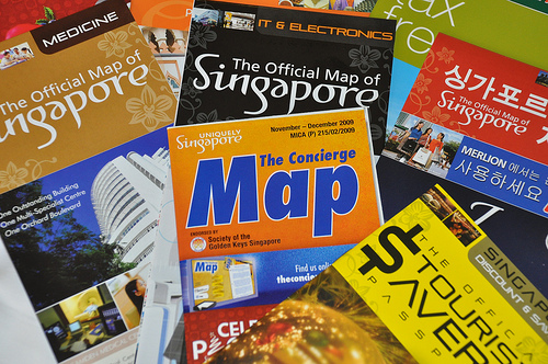 Free Maps in Changi Airport