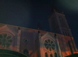 Baguio Cathedral at Night