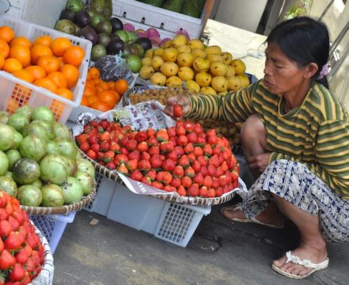 Fruit Vendor in Session Road