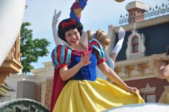 Snow White at the Flight of Fantasy Parade