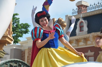 Snow White at the Flight of Fantasy Parade