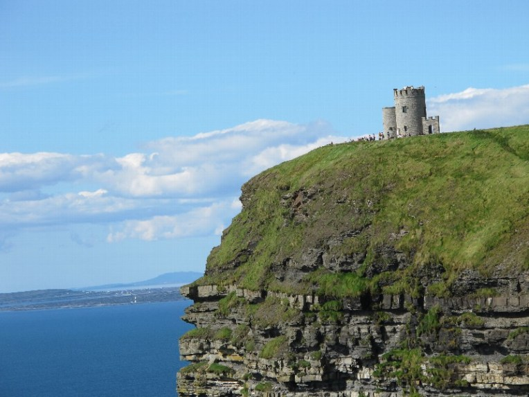 View of Aran from Cliffs of Moher Co. Clare