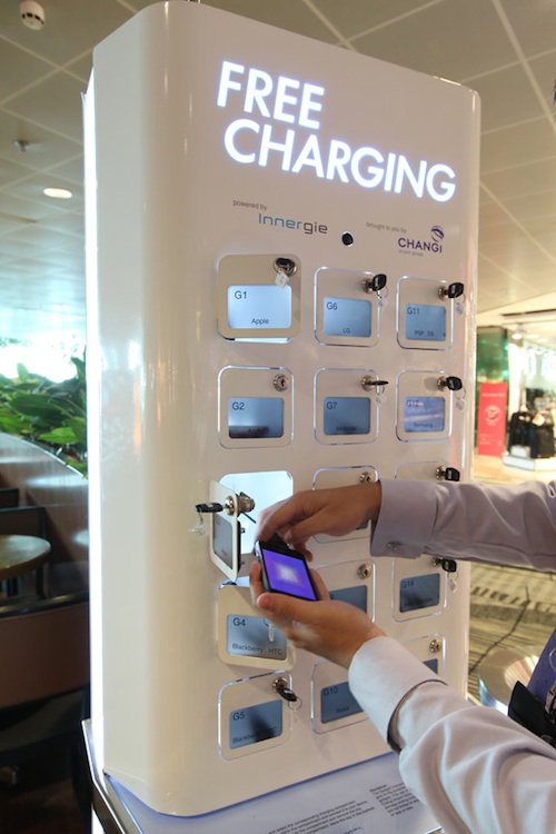 free mobile charging station changi airport