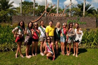 Miss Earth 2011 Contestants in Hamilo Coast