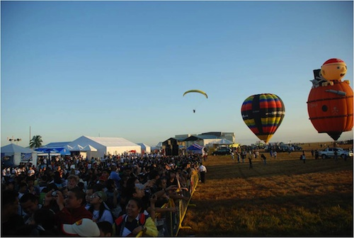 early morning events at the hotair balloon fiesta