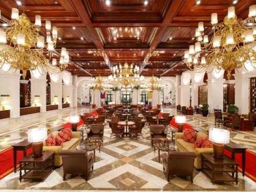 hotel lobby of manila hotel