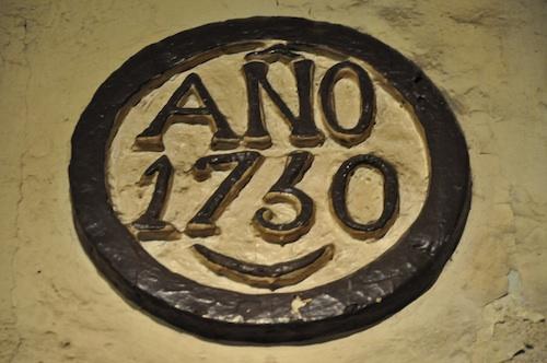 Year 1730 Marker