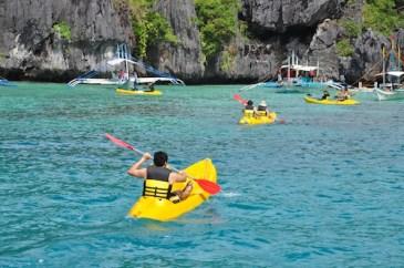 Kayaking in Small Lagoon