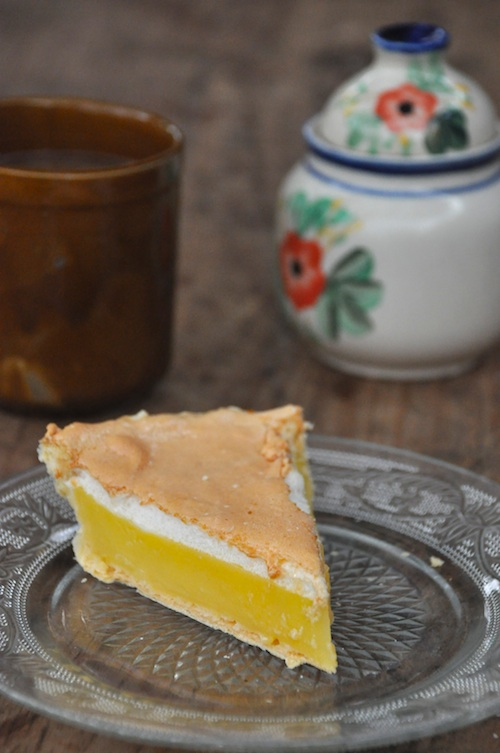 Lemon Pie with Brewed Coffee