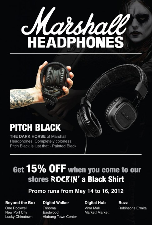 Marshall Pitch Black headphones
