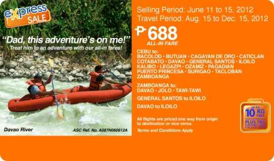 Airphil Express Seat Sale Fathers Day